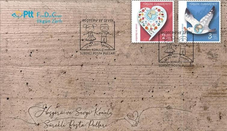 TÜRKİYE'PTT AŞ'den 'Hoşgörü ve Sevgi' konulu posta pulları ve ilk gün zarfıE YENİ ÇAĞ 